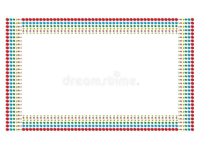 Färg Dot Pattern arkivfoton