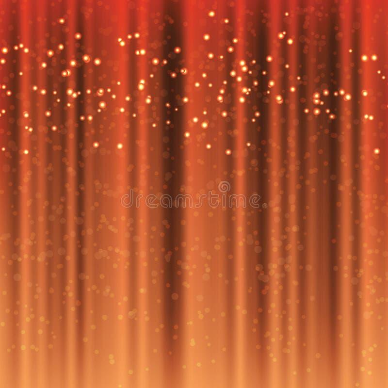 Färg för Ð-¡ hocolate hänger upp gardiner med magiska glittergnistor stock illustrationer