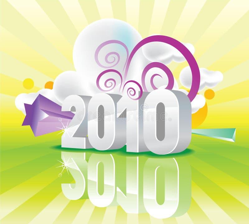 färg för 2010 kalender stock illustrationer