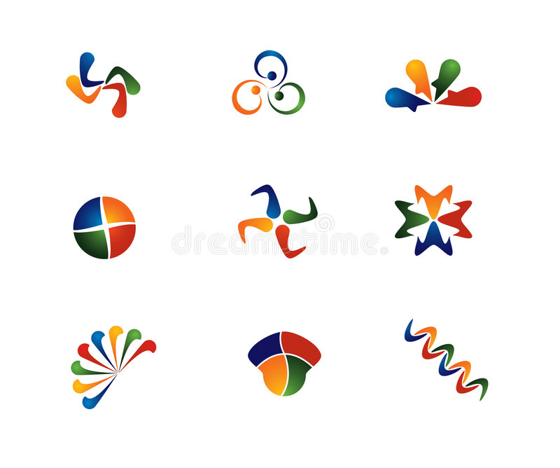 färg för 4 abstrakt begrepp vektor illustrationer