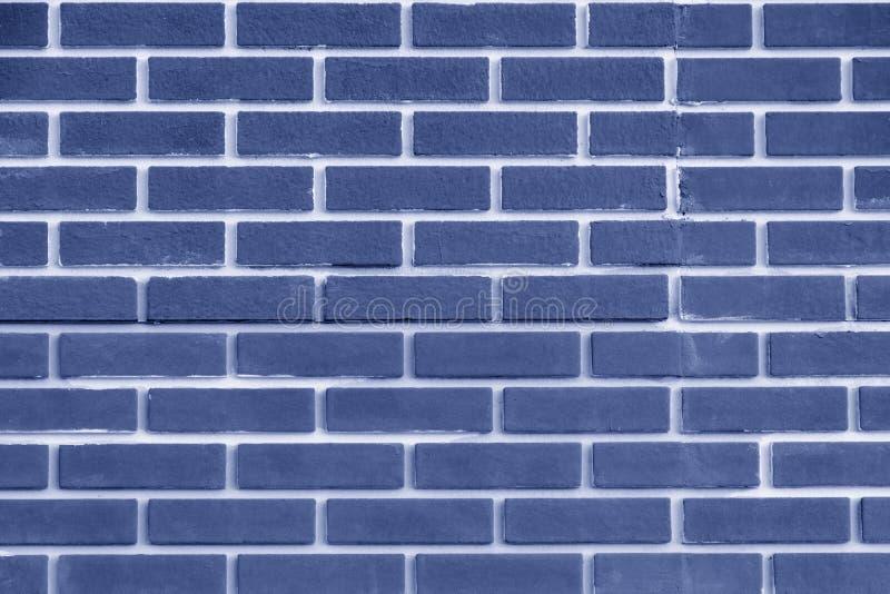 Färg för blått för tegelstenvägg Ljus geometrisk textur royaltyfri fotografi