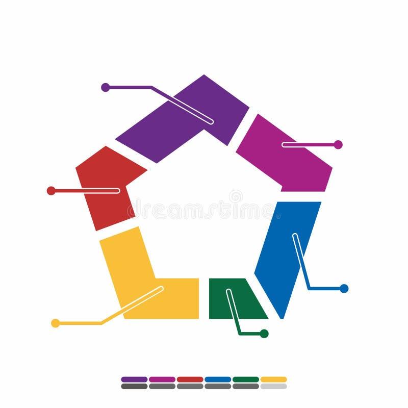 färg för design för informationsdiagramlägenhet full, grafmatematikdesign royaltyfria bilder