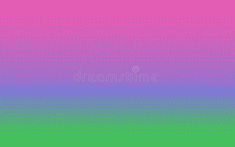 Färg för PIXELkonstlutning Dithering vektorbakgrund royaltyfri illustrationer