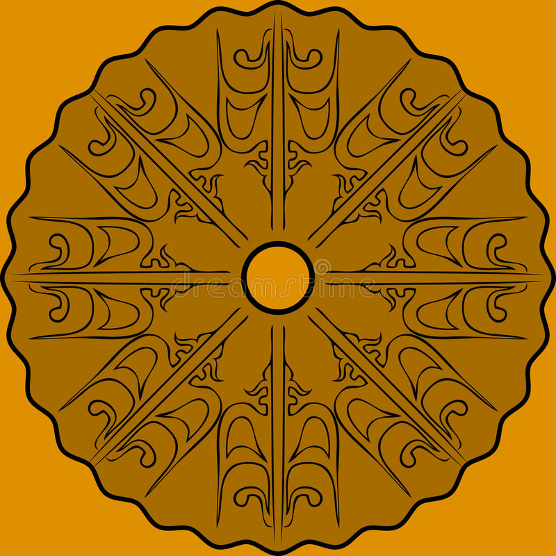 Färg för sammansättning för abstrakt konst guld- royaltyfri illustrationer