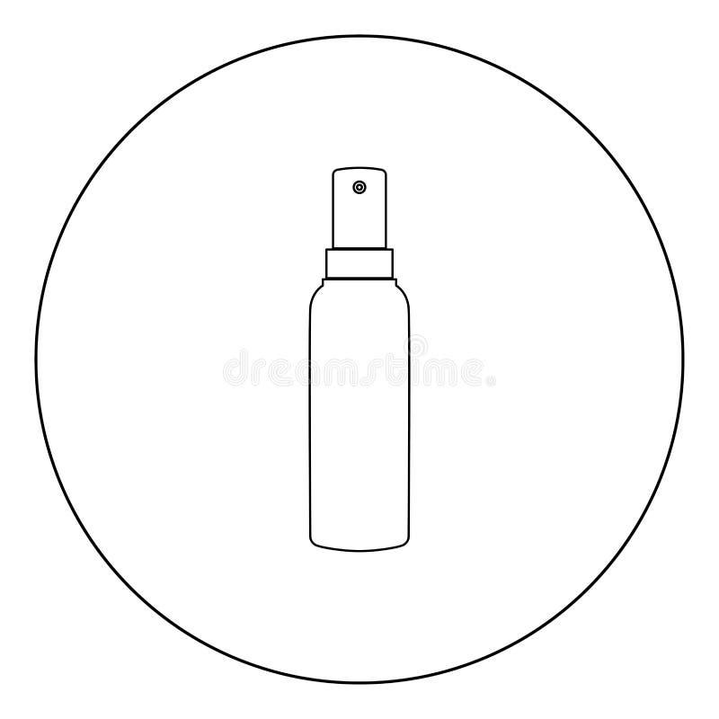 Färg för sprejsymbolssvart i cirkel royaltyfri illustrationer