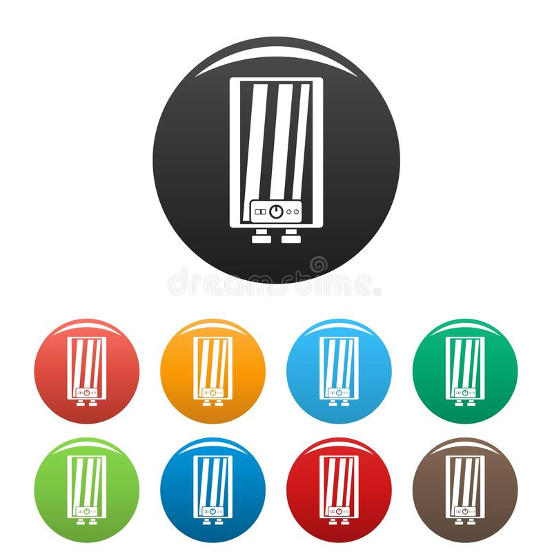 Färg för symboler för ångakokkärl fastställd royaltyfri illustrationer