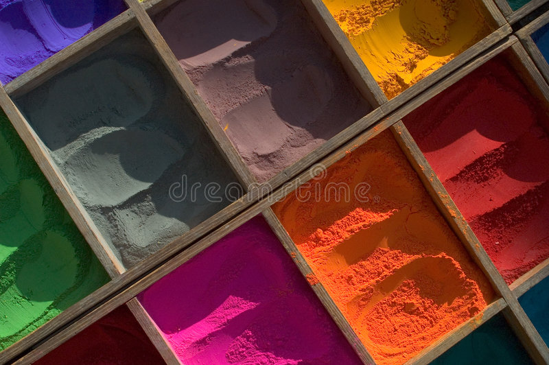 färg india nepal arkivbilder