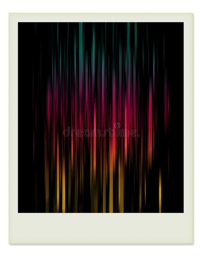 färg inom den enkla fotopolaroiden royaltyfria foton