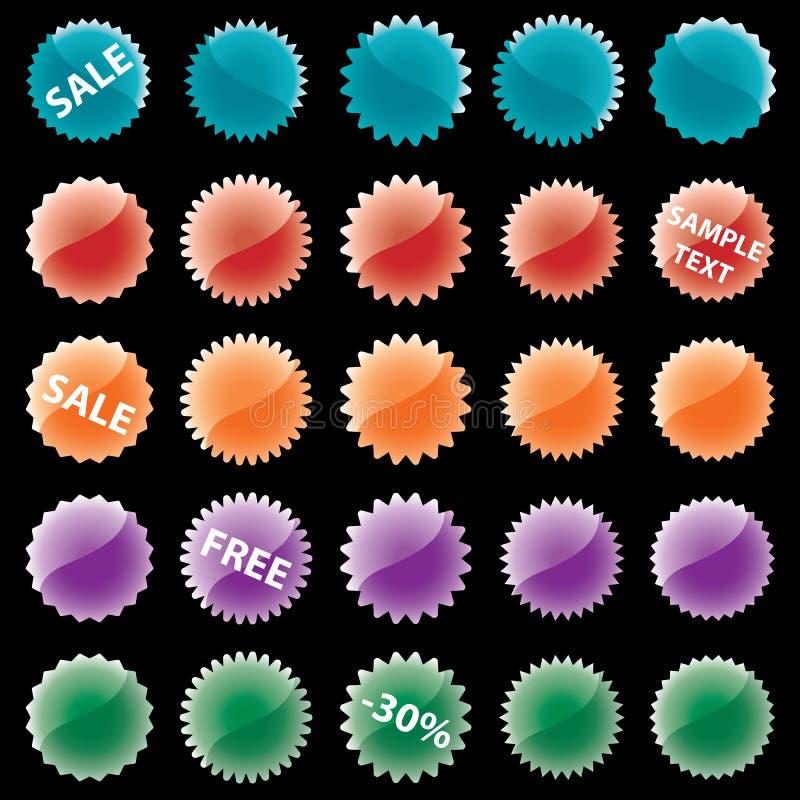 färg märker stjärnan vektor illustrationer