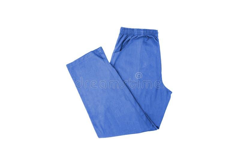Färg Men' s-byxa som isoleras på en vit royaltyfria foton