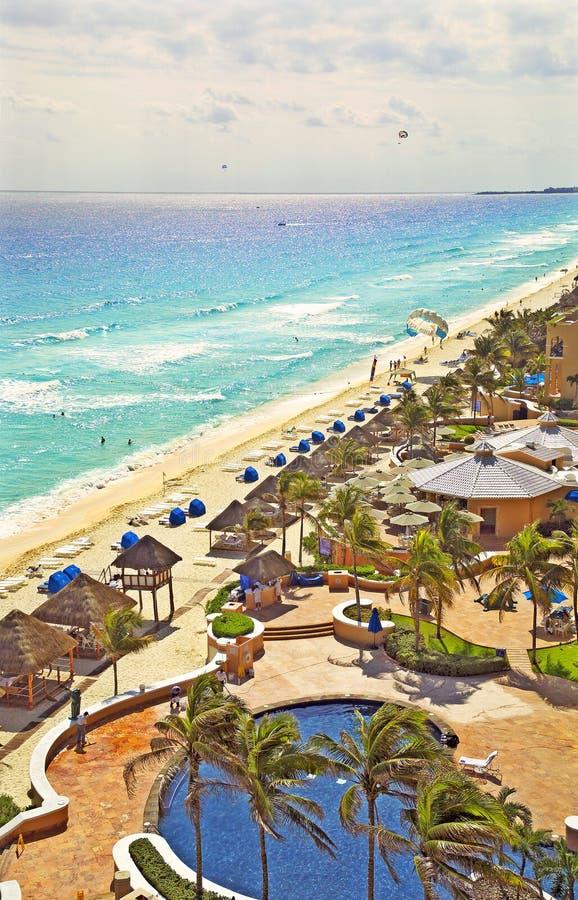 färg mexico för 41312 cancun arkivfoto