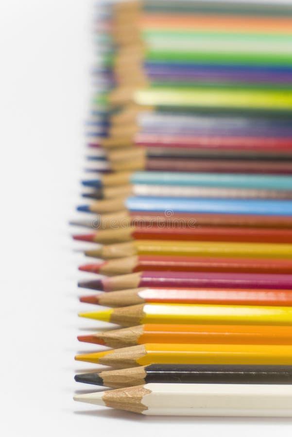 färg pencils vii royaltyfria foton