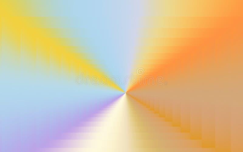 Färg rusar abstrakt färgrik bakgrund med livliga färger och guld- toner vektor illustrationer