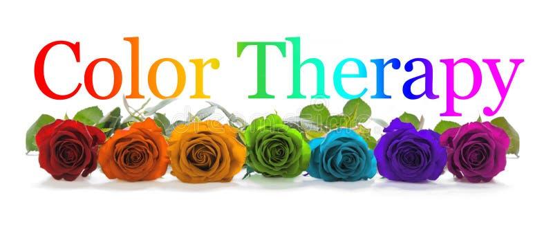 Färg som läker terapi Rose Banner royaltyfria foton