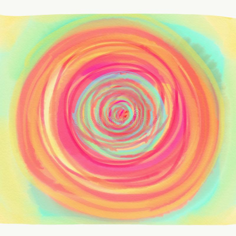 Färg som målas med vattenfärgen royaltyfri illustrationer