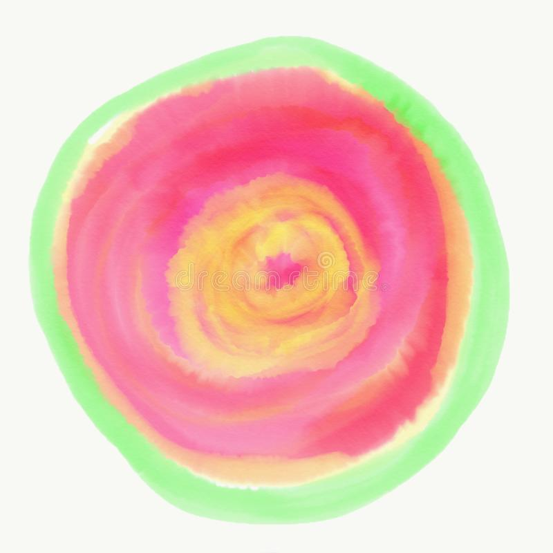 Färg som målas med vattenfärgen stock illustrationer