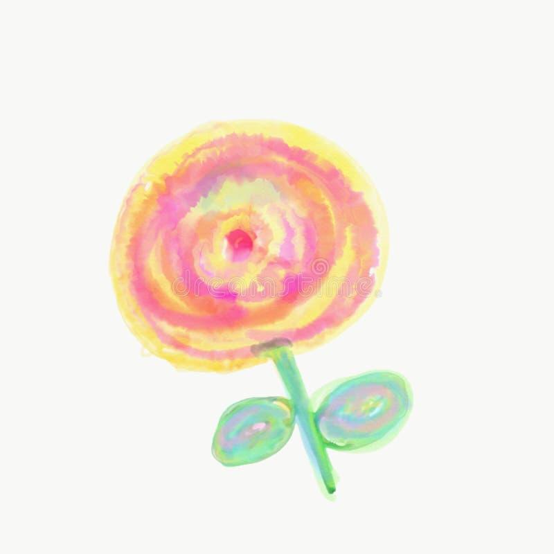 Färg som målas med vattenfärgen arkivfoto