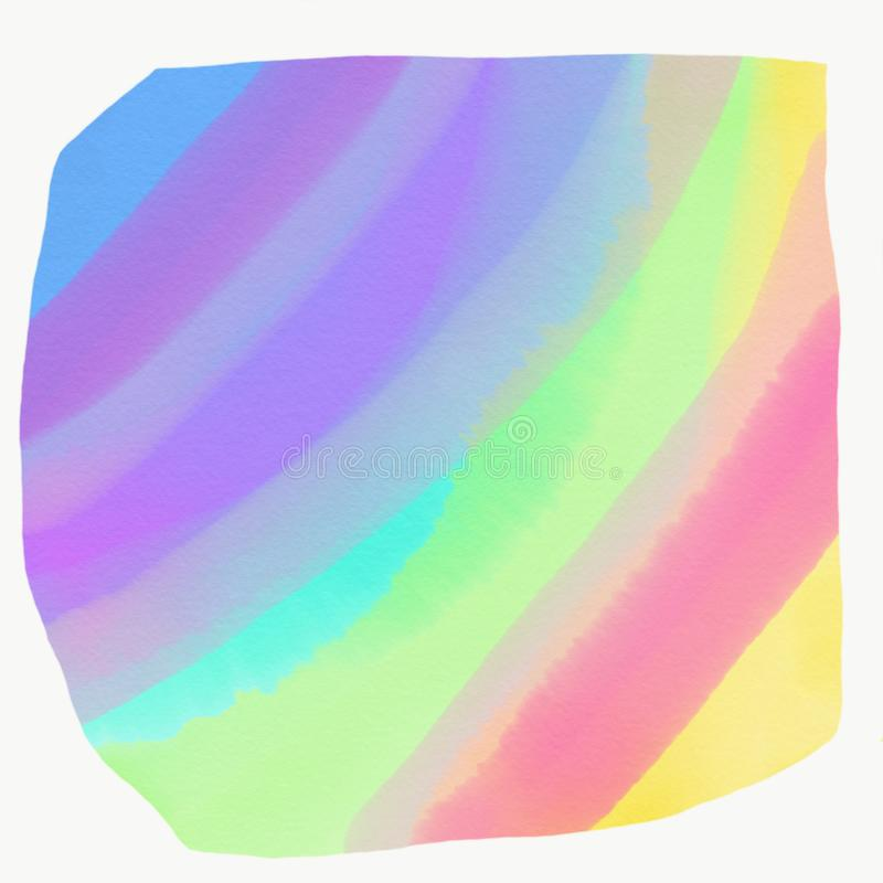 Färg som målas med vattenfärgen vektor illustrationer