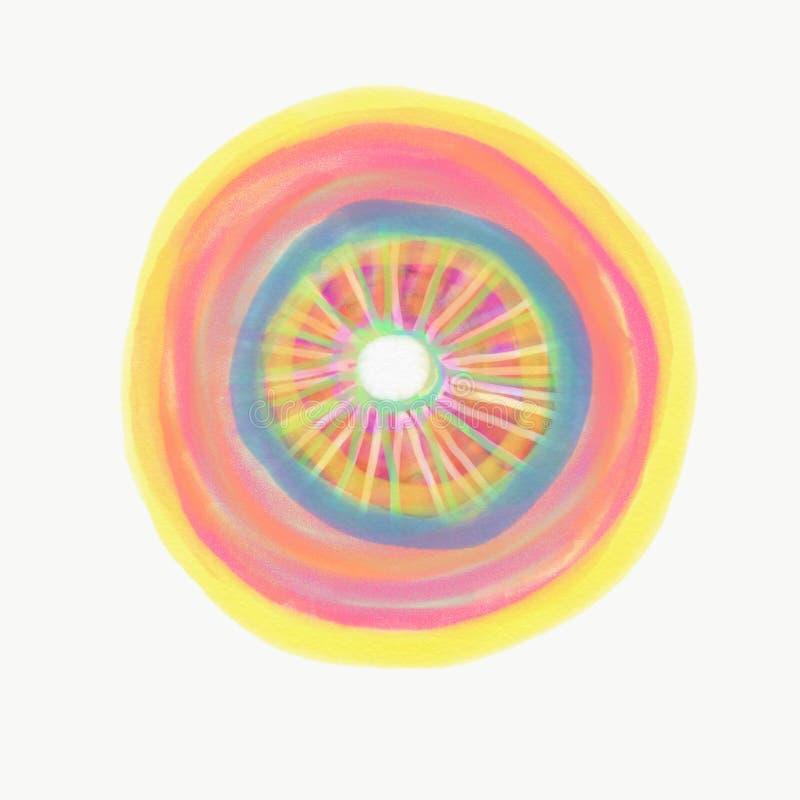 Färg som målas med vattenfärgen royaltyfria foton