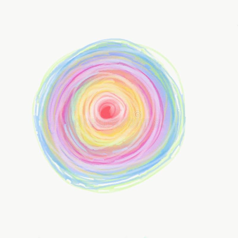 Färg som målas med vattenfärgen arkivbilder