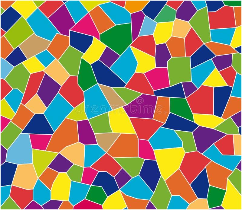 Färg tiles mosaiken stock illustrationer