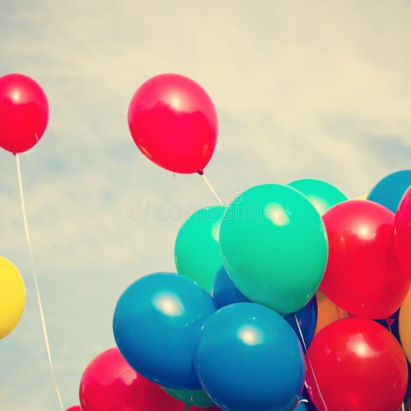 Färga ballonger royaltyfria foton