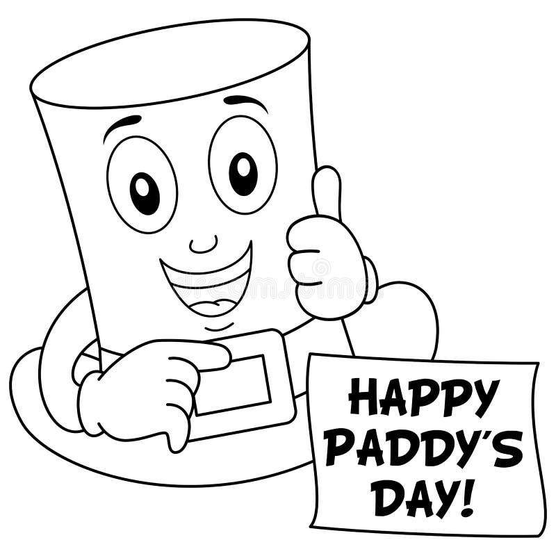 Färga den lyckliga hatten för dag för St Patrick ` s royaltyfri illustrationer