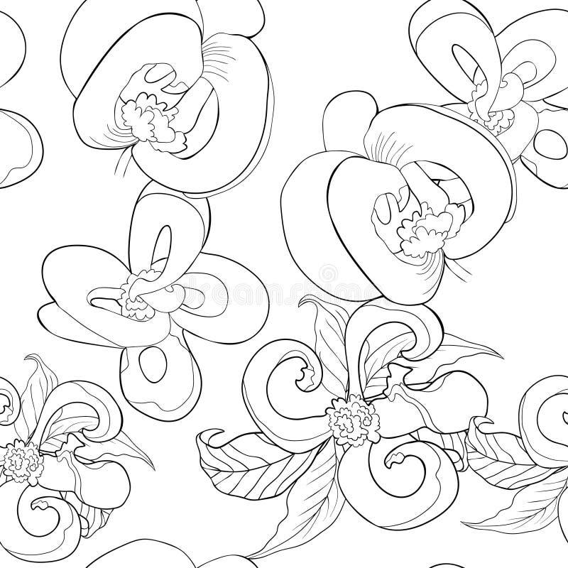 Färga den sömlösa modellen med Florida skogskornell blomma vektor I stock illustrationer
