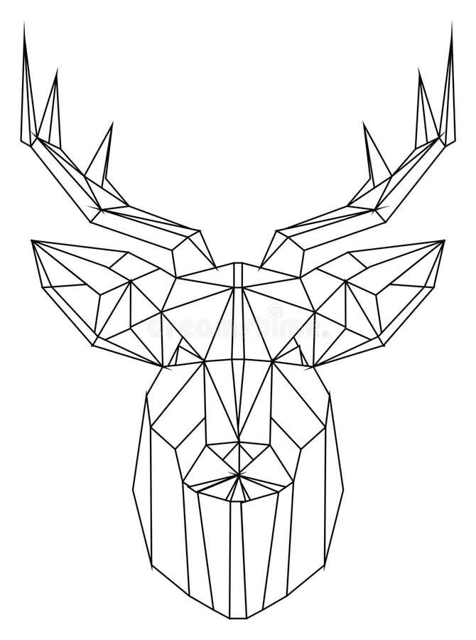 Färga framsidan av hjortar royaltyfri illustrationer