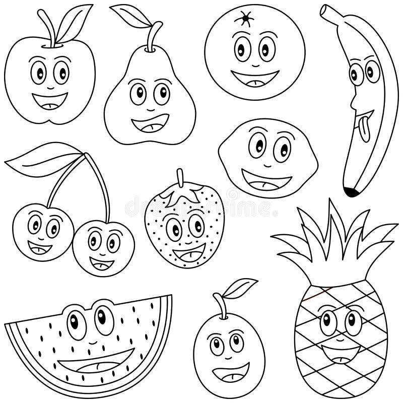 färga fruktungar royaltyfri illustrationer