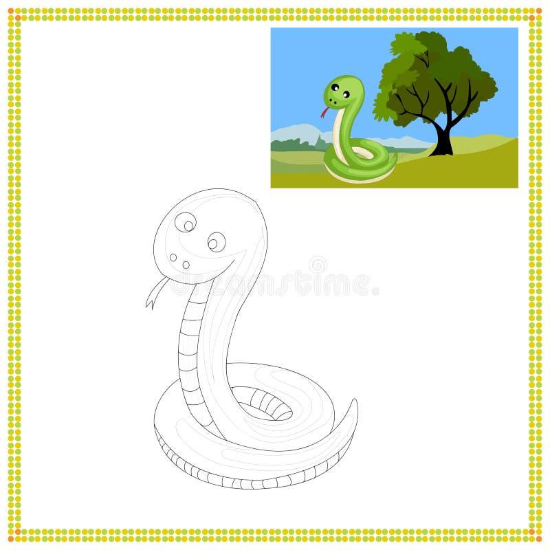Färga ormen royaltyfri illustrationer