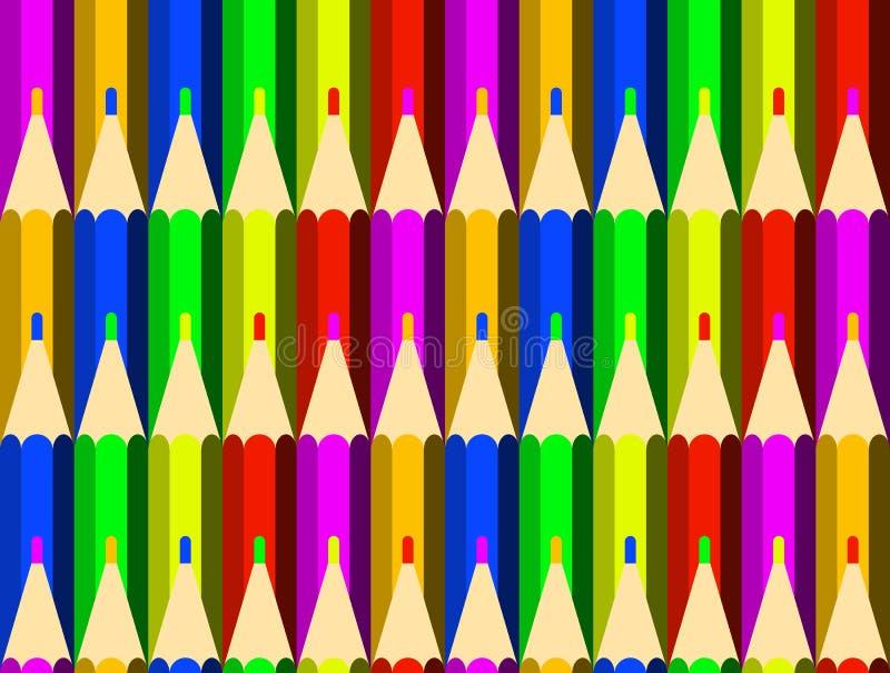 Färga ritar bakgrund seamless modell Teckning kreativitet, skola vektor illustrationer