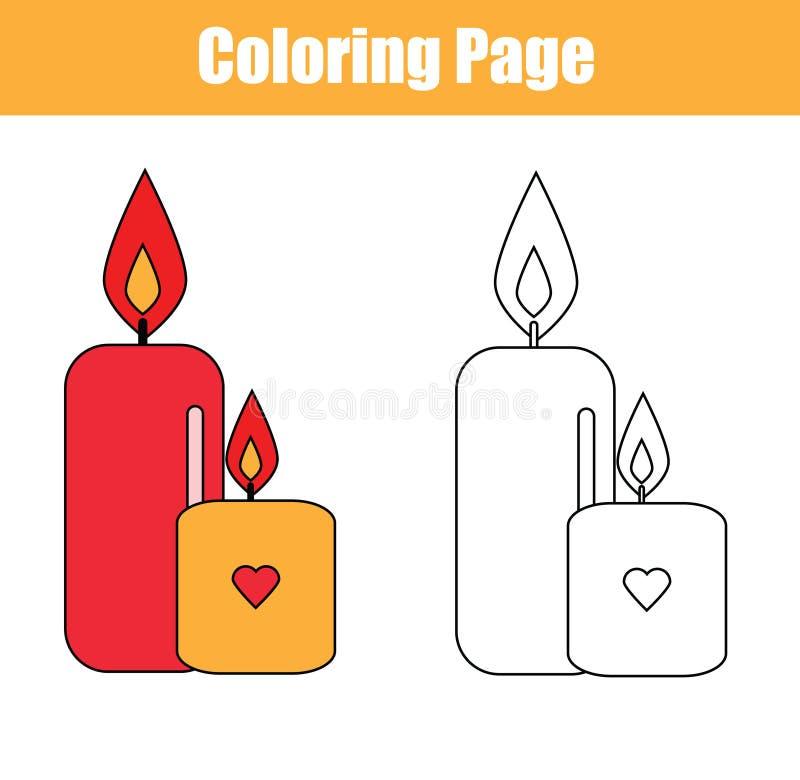 Färga sidan med stearinljus vektor illustrationer