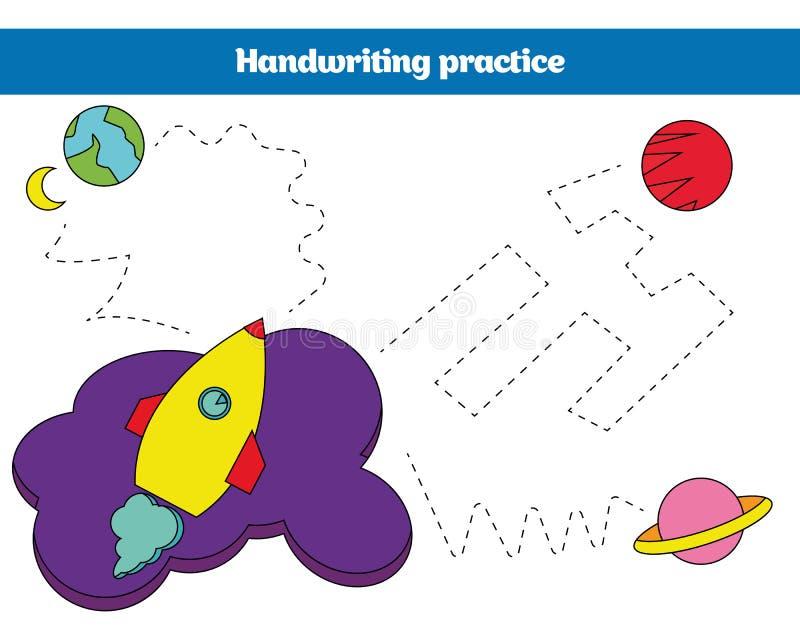 Färga vid numret, utbildningsleken för barn Färga sidan som drar ungeaktivitet Kosmosdesign stock illustrationer
