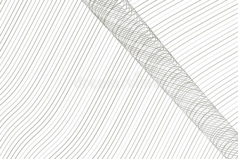Färgabstrakt begrepplinje, kurva & bakgrund för konst för geometrisk modell för våg generativ Kanfas, bakgrund, vektor & yttersid stock illustrationer