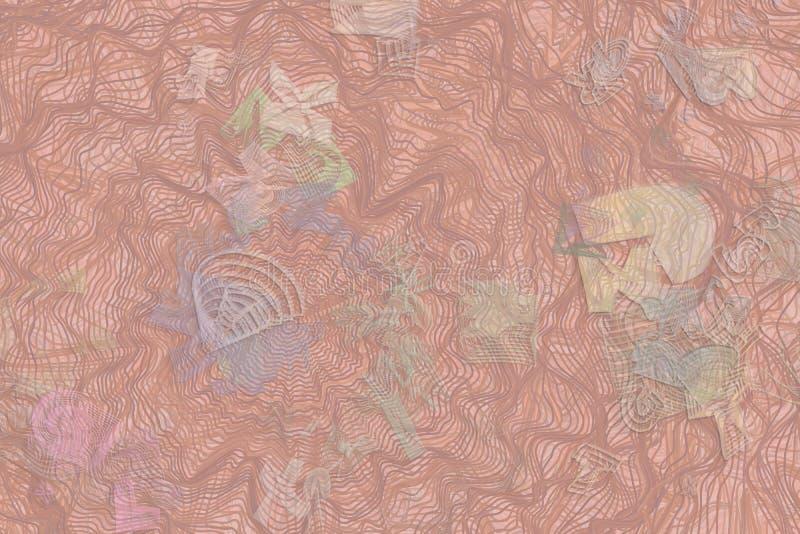 Färgabstrakt begreppmodell, generativa blandade smutsiga former, konstbakgrund Yttersida, repetition, idérikt & effekt vektor illustrationer