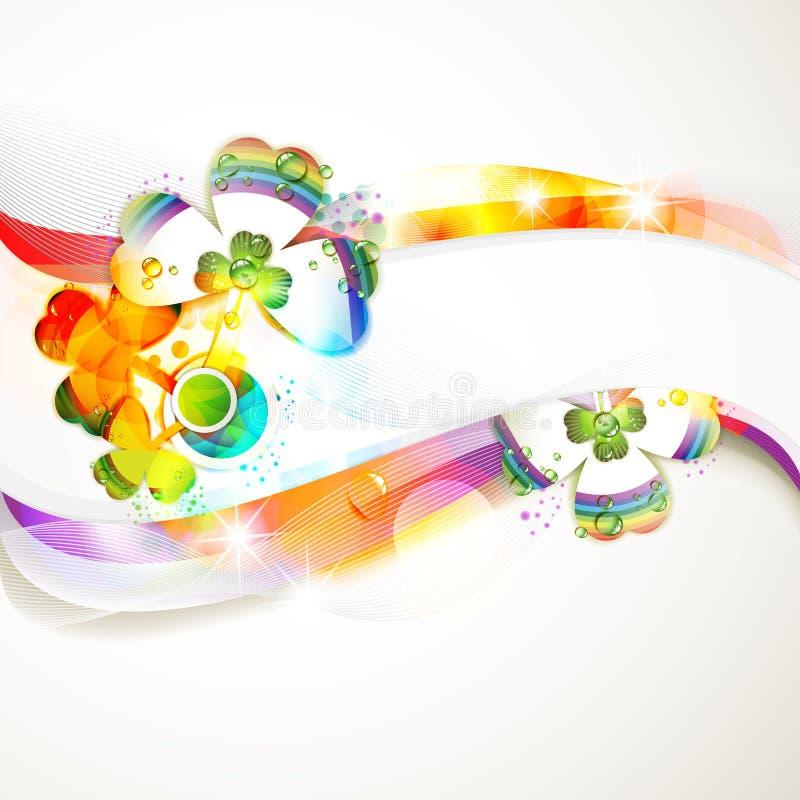 färgad abstrakt bakgrund stock illustrationer