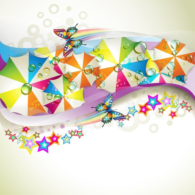 färgad bakgrund vektor illustrationer