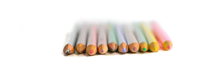 Färgad blyertspenna royaltyfria bilder