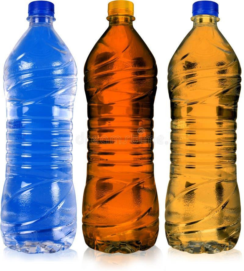 färgad flaska arkivfoto