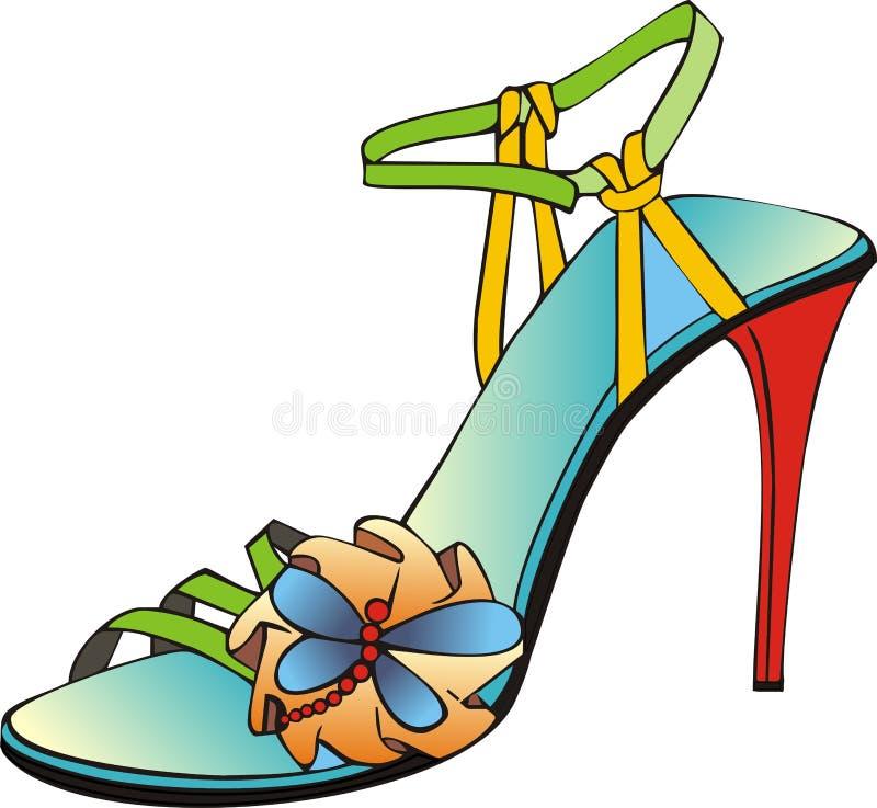 färgad italiensk sandal vektor illustrationer