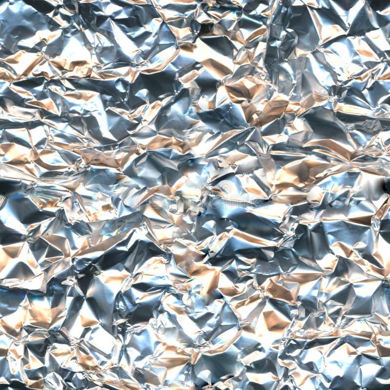 Färgad ljus sömlös textur för folie mönstrar aluminum silver, försiktiga apelsinblått mjuk flerfärgad bakgrund royaltyfri foto