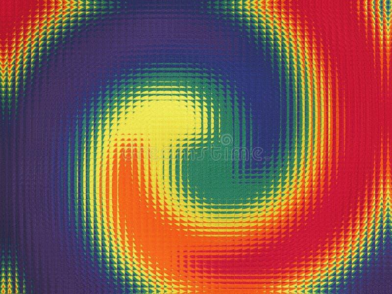 Färgad mosaisk spiral royaltyfri illustrationer