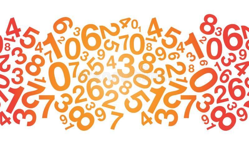 Färgad nummerbakgrund vektor illustrationer