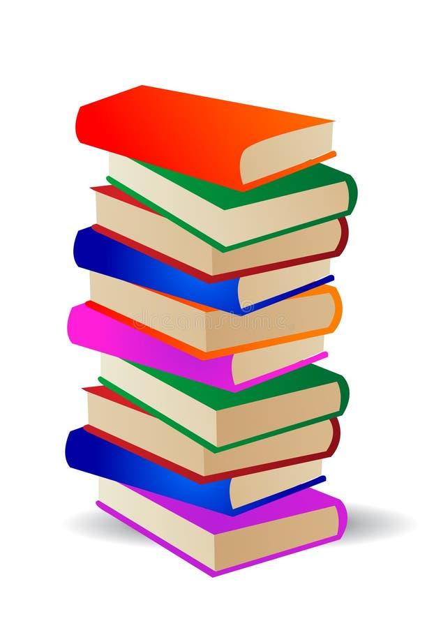 färgade böcker vektor illustrationer