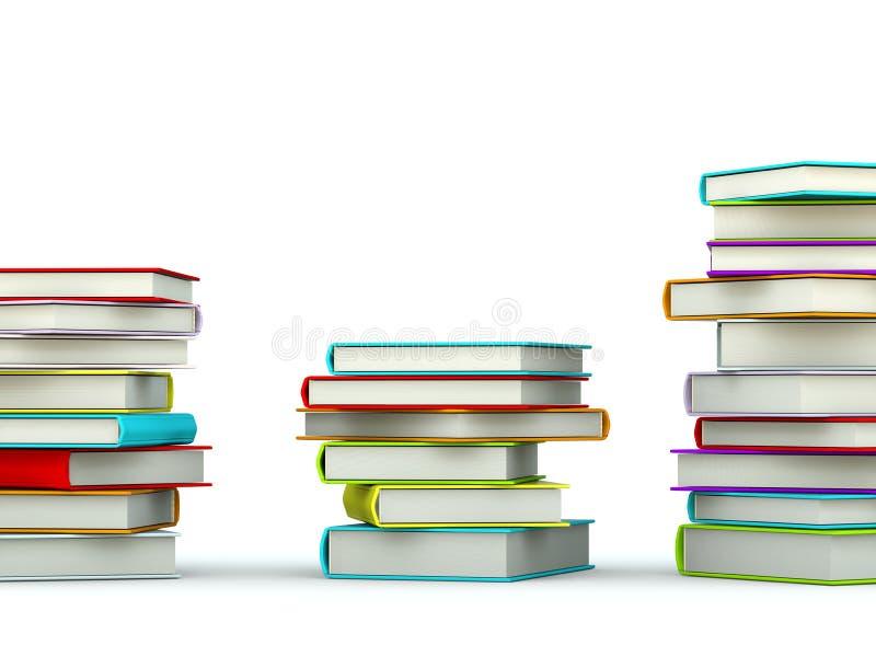 färgade böcker stock illustrationer