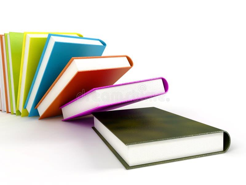 färgade böcker arkivbild
