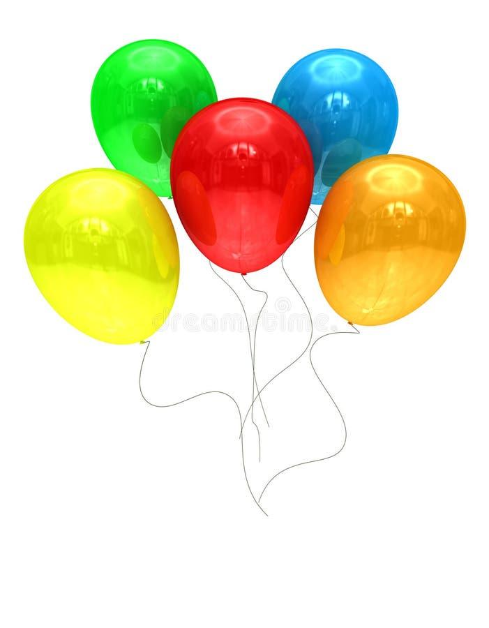 färgade ballons royaltyfri fotografi