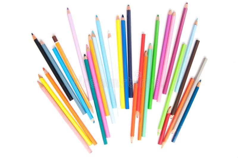 Färgade blyertspennastrålar royaltyfri foto