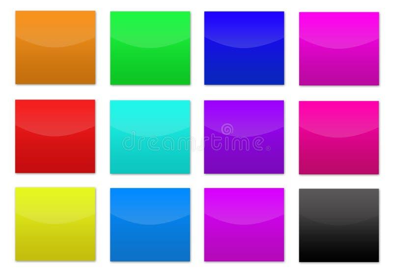 färgade knappar royaltyfri fotografi